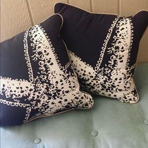 TWO Threshold Starfish Pillows